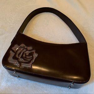 🌟SALE🌟 BCBG hard case plaid detail hand bag